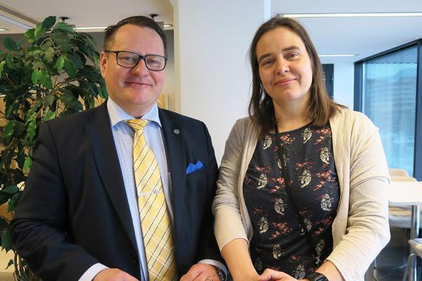Petri Lehikoinen ja Riia Palmqvist