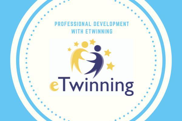 Professional development with eTwinning logo