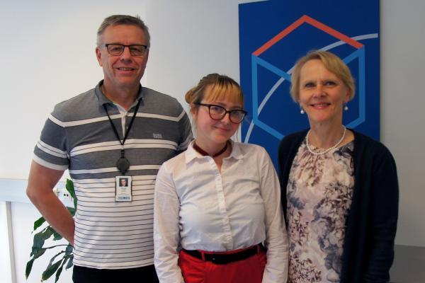 Yrjö Kautto, Lejla Cardžic and Anneli Kakko at Elomatic
