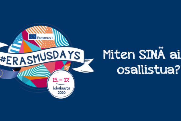 #ErasmusDays tulee taas