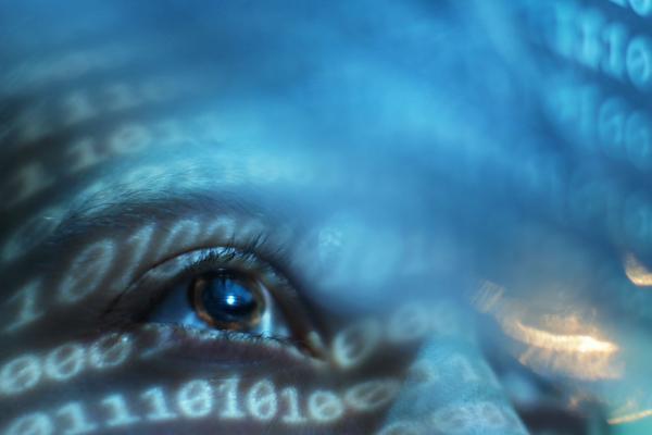 Kuvituskuva: silmä ja numeroita