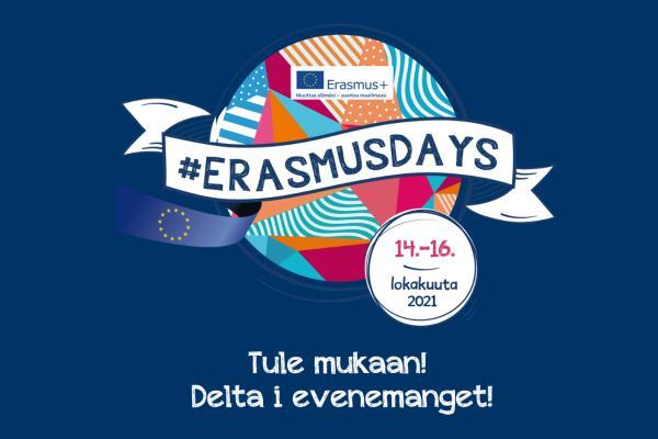 ErasmusDays-logo sekä teksti Tule mukaan!