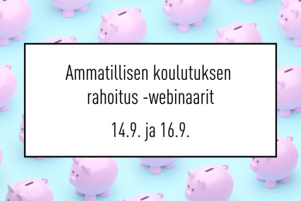 Ammatillisen koulutuksen rahoitus web.