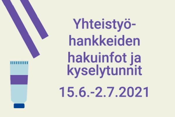 Luova Eurooppa -yhteistyöhankkeiden hakuinfot ja kyselytunnit 15.6.-2.7.2021