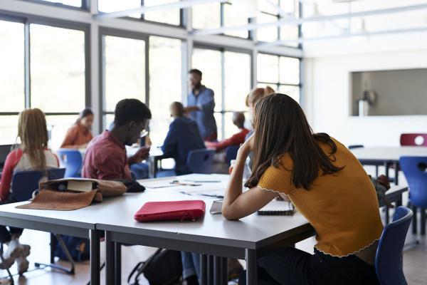 Oppilaita oppitunnilla