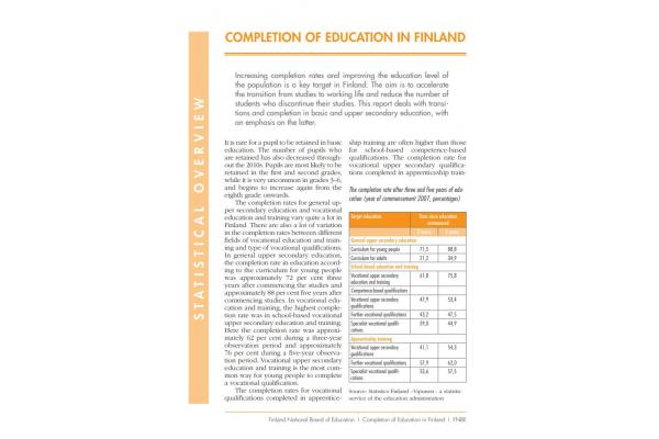 Completion of education in Finland