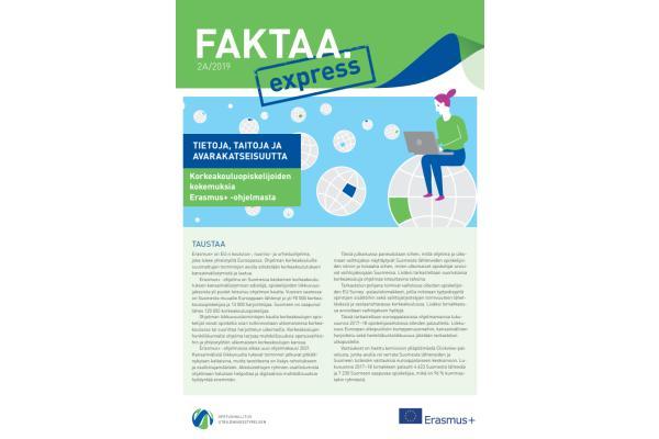 Faktaa Express 2A/2019: Tietoja, taitoja ja avarakatseisuutta