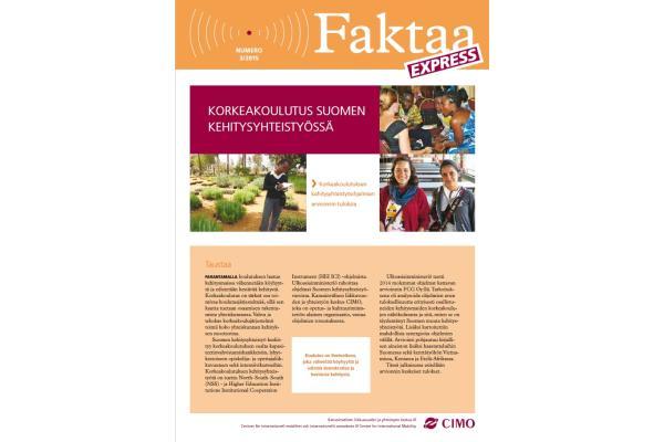 Faktaa Express 3/2015: Korkeakoulutus Suomen kehitysyhteistyössä