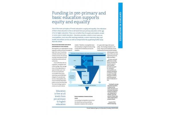 Funding in pre-primary and basic education supports equity and equality