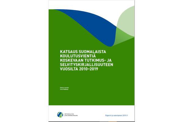 Katsaus suomalaista koulutusvientiä koskevaan tutkimus- ja selvityskirjallisuuteen vuosilta 2010‒2019