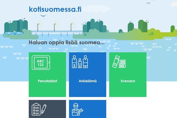 Kotisuomessa.fi - webbtjänst för studier i finska och svenska