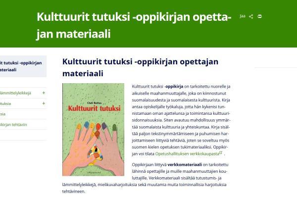 Kulttuurit tutuksi -oppikirjan opettajan materiaali