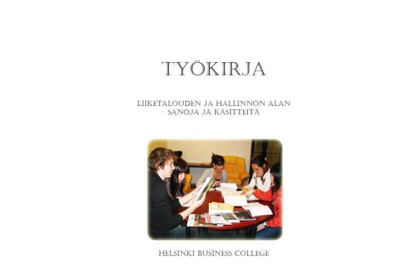 Liiketalouden ja hallinnon alan sanoja ja käsitteitä