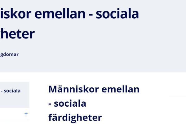 Människor emellan - sociala färdigheter