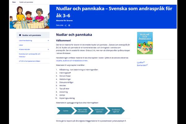 Nudlar och pannkaka – Svenska som andraspråk för åk 3–6