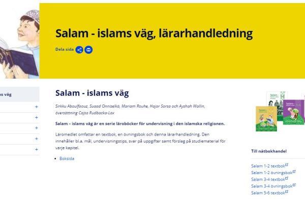 Salam - islams väg, lärarhandledning