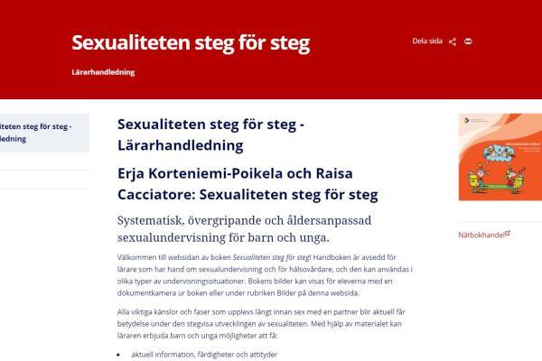 Sexualiteten steg för steg -Lärarhandledning