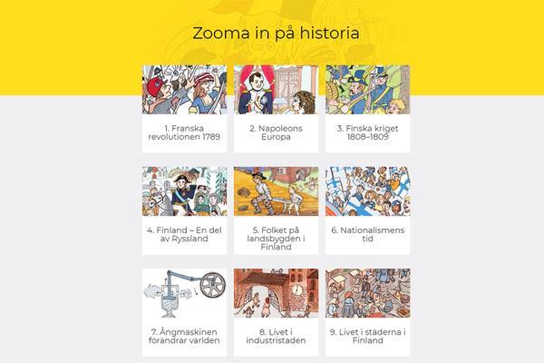 Zooma in på historia, del 1 - digitala uppgifter för eleven