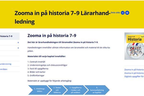 Zooma in på historia 7–9 - Lärarhandledning