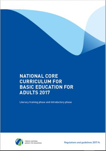 Cover: National core curriculum for basic education for adults 2017