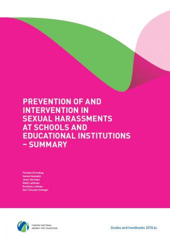 Prevention of and intervention in sexual harassments at schools and educational institutions – Summary