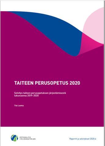 Taiteen perusopetus 2020