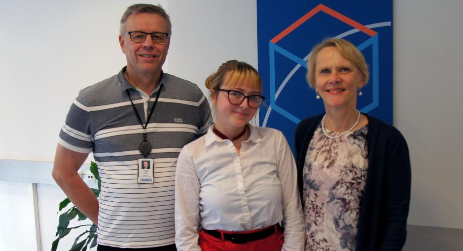 Yrjö Kautto, Lejla Cardžic and Anneli Kakko at Elomatic