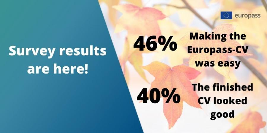 Survey results are here! 46% Making the Europass Cv was easy! 40% The finished CV looked good.